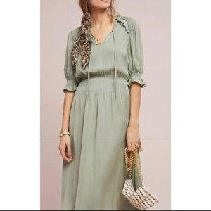 NWOT Cape May Midi Dress, Medium, Olive
